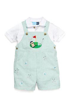 Good Lad 2-Piece Polo Shirt and Seersucker Shortall Set