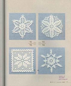 lots of snowflake crochet charts