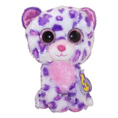 TY Beanie Boos - GLAMOUR the Purple Leopard (Regular Size - 6 inch)*Limited Exclusive*