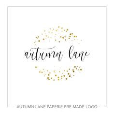 This listing is for a customizable pre-made Gold Confetti Circle Logo. Put your company's name on it today!