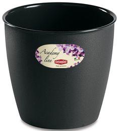 Pot ou Cache Pot Interieur et Exterieur 3.3 L ACADEMY ROND Anthracite au meilleur prix ! - LeKingStore