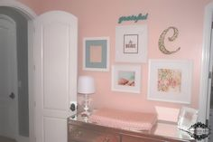Coral Blooms {a completed coral, aqua and gold nursery}