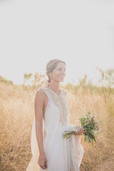 Vestido de novia de Alejandra Valero, vía @casildasecasa