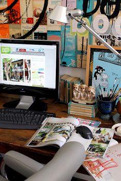 Office desk by midcenturyjo, via Flickr