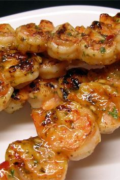 """This is an amazing spicy grilled shrimp recipe. It has become my family's new favorite. Easy Grilled Shrimp Recipes, Marinated Grilled Shrimp, Fish Recipes, Seafood Recipes, Grilled Meat, Spicy Shrimp, Grilled Chicken, Chicken Recipes, Shrimp Dishes"