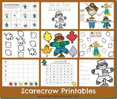 "Free Scarecrow Printables ~ Based on the books ""The Falling Leaves and the Scarecrow"" and ""The Little Scarecrow Boy"""