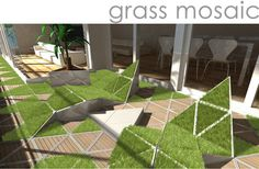 This is so nice. I want my own grass mosaic in my future home.