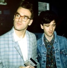 Morrissey and Johnny Marr of The Smiths in Scotland (1985) ― photo by Jo Cooper.