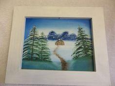 Original Oil Painting Cabin in The Field by StillwatersPaintings