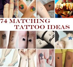 74 Matching Tattoo Ideas To Share With Someone You Love some of these are cute and other ones are ridiculous