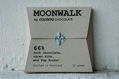 COCANU, chocolate, hand-crafted in Portland, Oregon, featured in Whole Living magazine, L'Officiel, Bon Appetit, and more. A variety of styles, today I had the opportunity to try Moonwalk - I love it! The addition of Pop Rocks makes it feel, delightfully, like you have stars in your mouth! (USA / C /O)