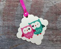 These cute little love owl tags measure approximately 1.5x1.5 inches, they are printed on an off white card stock. 20 tags come in one pack.
