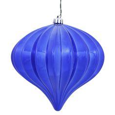 Vickerman Shiny Blue Onion-shaped Ornaments