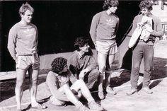 Temporada 1983-84. Pardeza, Sanchís, Michel, Martín Vázquez y Butragueño cuando eran jugadores del Castilla