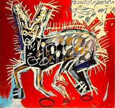 Untitled (Cat)  -   Jean-Michel Basquiat  c. 1982  American 1960-1988
