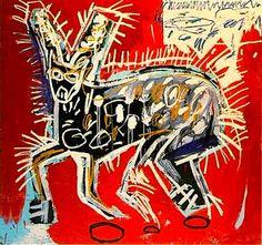 Untitled (Cat) - Jean-Michel Basquiat c. 1982 American 1960-1988