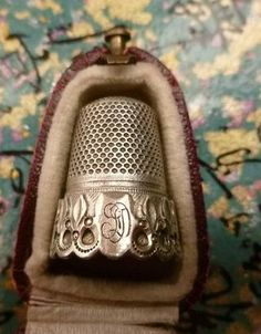 I love a beautiful thimble nestled in an equally beautiful thimble box. Gorgeous.