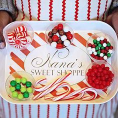 Treat the kids to a gingerbread decorating party that's sure to become a tradition every year! Small plastic cups and disposable trays allow kids to easily sort and carry candies to the decorating table before turning their gingerbread houses into homemade masterpieces. To make this take-along tray, simply print out our place mat and fit into foam trays./