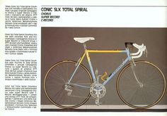 1988 Colnago Catalog // Conic SLX Total Spiral