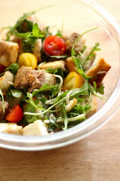 If you love bread, you'll really love this panzanella salad recipe. It's a bread salad, which is about as perfect of a salad as you can get.