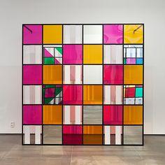 daniel buren, cores, luz, projeção, sombras, transparência: obras in situ 6, 2015