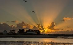 Crepuscular Rays over Barreiro, Portugal EarthSciencePictureOfTheDay