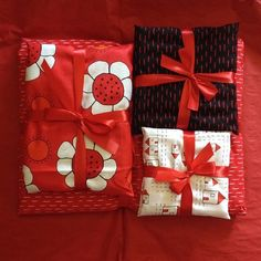 Creative Thursday fabric as gift wrap