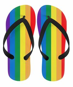 781f05aa2153bc  LGBT Gay Support Rainbow Flip Flops