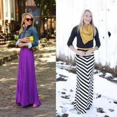 winter maxi skirt outfit inspiration