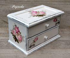 Krabičky - Vintage roses šperkovnica - 8171964_