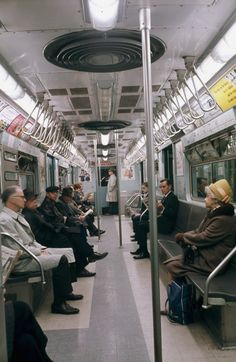Passengers ride in a car on a New York City subway train, (AP Photo) New York Subway, Nyc Subway, Subway Art, Ride Drawing, Metropolitan Line, New York Central Railroad, Underground Tube, New York City Photos, Buses And Trains