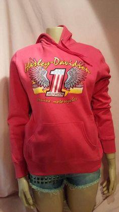 Harley Davidson Hoodie Sweatshirt Women Pink Graphic XS S or M Houma LA #HarleyDavidson #Hoodie #harleydavidson #harley #livetoride #biker #bikers #sweatshirt #fashion #style #chic #ebay #fashionmagenet #look #sale #sales #shop #shopping