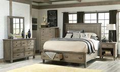 Brownstone King Storage Bed