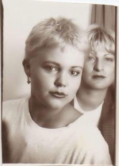 A photo booth picture of Belinda Carlisle from the late 1970′s, right around the time that the Go-Go's formed (1978).