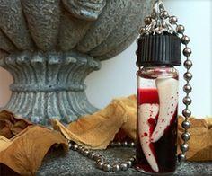 Vampire hunter trophy fangs.