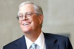 """""""I have friends who smoke pot… It's ridiculous to treat them as criminals."""" – David Koch / businessman, philanthropist and chemical engineer"""