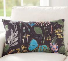 Daisy Botanical Print Lumbar Pillow Cover #potterybarn
