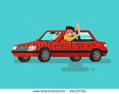Image result for person driving car cartoon