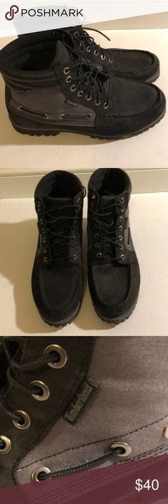 save off 18d93 31c31 Black and Gray Timberland boots Black and gray suede and canvas boots  Timberland Shoes Boots