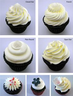 Great tutorial on decorating cupcakes.