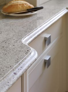 Curved granite finish. Extreme Design kitchen worktop.