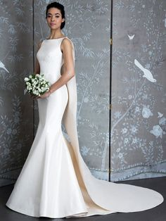 b44ac990fd LEGENDS by Romona Keveza Spring 2019 boat-neck wedding dress with a fluted  skirt and