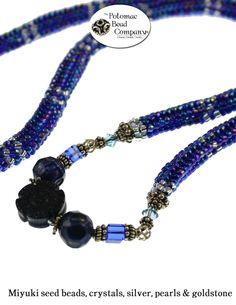 Tubular herringbone necklace from The Potomac Bead Company  http://www.potomacbeads.com