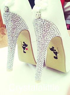 Mickey and Minnie Wedding Shoe Stickers- Wedding Decal- Wedding Favour-  Bride Gift- Bridal Shoes- Photo Prop 05f979413358