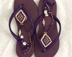 Sandals Boho Sandals Flip Flops Women Sandals by TribesBySaraK