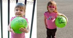 Mail a ball to a child for their birthday, no box required, just write on the ball, add address and stamps!  Other things you can mail:  frisbee, plastic easter egg, flip-flops... see blog for more ideas