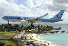 besondere Herausforderung: Princess Juliana Interntional Airport auf St Marteen