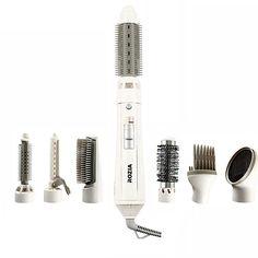 معرفی حالت دهنده ۷ کاره مو روزیا مدل HC8110 سشوار و حالت دهنده ۷ کاره مو مدل HC8110 یکی از محصولات چند کاربری برند روزیا میباشد که برای استفاده شخصی و سالن های آرایشی بسیار مناسب میباشد.به جای اینکه چندین دستگاه بگیرید.چندین دستگاه در یک جا برای استفاده راحت و آسان جمع شده است.نوع موتور این سشوار از نوع AC می باشد،که دارای توان ۴۵۰ وات است. با استفاده از این سشوار ۷ کاره به راحتی می توان موهای سر را حالت داد۷- برس خشک کننده و حجم دهنده Hairdressing Supplies, Hairdresser, Barber, Barber Shop