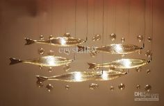 Wholesale Chandelier Glass - Buy Postmodern Fairy Art Fish Glass Screens Chandelier Living Room Dining Room Decorative Pendant Lamp, $625.13 | DHgate