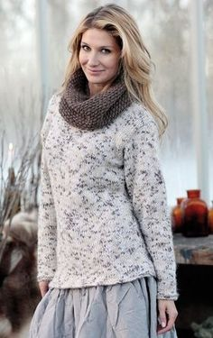 Skøn, strikket sweater / from a danish womens magazine I Love Fashion, Knit Cardigan, Free Pattern, Turtle Neck, Pullover, Knitting, Sweaters, Cardigans, Design